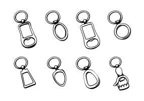 Nyckelringar vektor pack