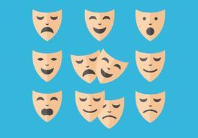 Gratis teatro mask vektorer