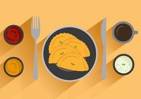 Kostenlose Empanadas Vektor-Illustration