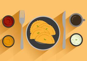 Illustration vectorielle gratuite Empanadas