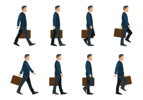Business Man Walking Cycle