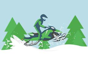 Snowmobile Illustration