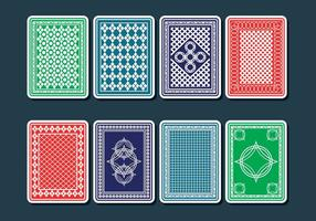 Vectores de la tarjeta de juego de vuelta