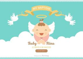 Free Bautizo Vector Invitation