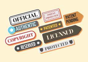 Vector de selo de patente livre