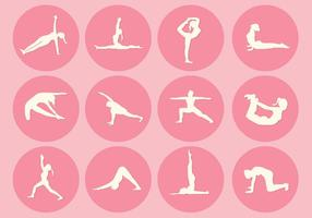 12 Yoga Pose Vectors