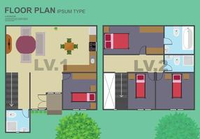 Gratis golvplan illustration