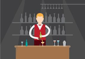 Gratis illustration av barman vektor