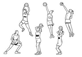 Netball Girls Vector