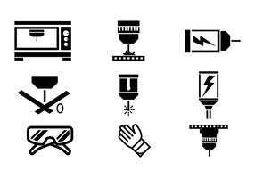 Laser Cut Vector Icons