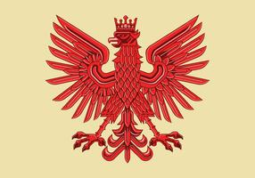 Art Deco Drawing of Amazing Polish Coat of Arm Vector