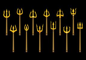 Poseidon tridente vector