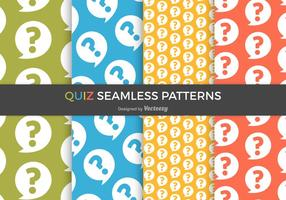 Free Quiz Vector Seamless Patterns