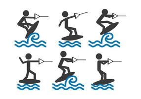 Vector de wakeboard