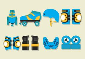 Roller Derby Vector Iconos