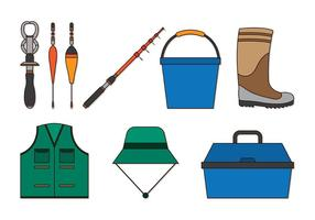 Set Of Fishing and Angler Icons