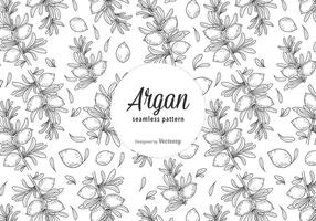 Gratis Argan Vector Seamless Pattern