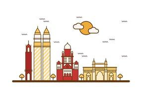 Vector d'illustration gratuit de Mumbai