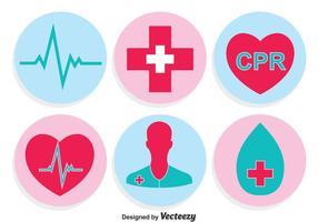 Círculo de iconos médicos vectoriales