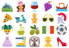 Vetores de ícones italianos