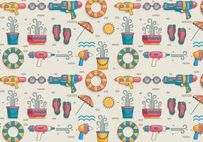 Songkran Pattern Vector
