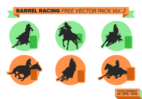 Barrel Racing Free Vector Pack