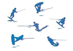 Gratis Water Skiing Vector