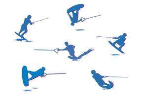 Vector de esquí acuático gratis