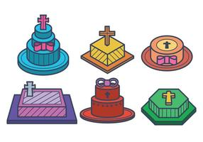 Bautizo Cake Vectores