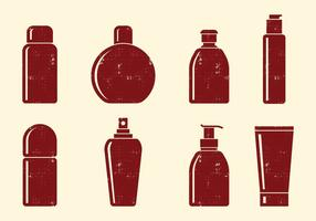 Cosmetics Bottle Icons vector