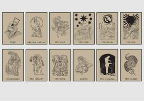 Tarot Card In Brown Background vector