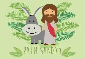 Free palm sunday illustration vektor