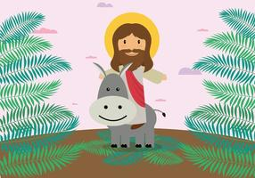 Free Palm Sunday Illustration vector