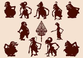 Wayang Kulit Javanese marionett