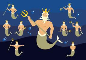 Poseidon Karakter Vector