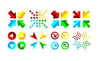 Vector de ícones de seta combinada grátis