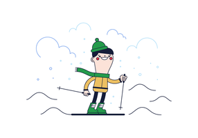 Vector de esquí gratis