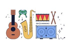 Vector libre de instrumentos de música