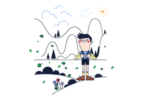 Freier Trekking-Vektor
