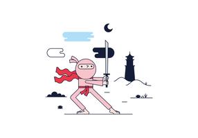 Vecteur ninja gratuit