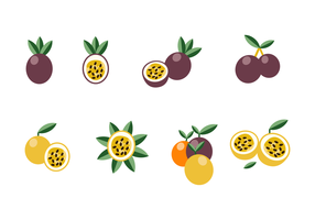 Vector de fruits de la passion gratuit