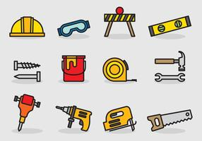 Cute Construction Tools vector