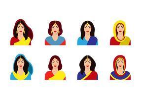 Vetor feminino indio grátis