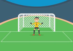 Goal Keeper Illustration