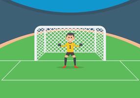 Goal Keeper Illustration