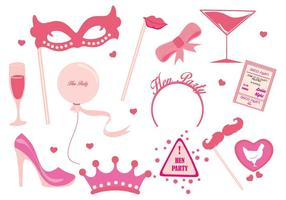 Hen Party Ladies Night Party Vector