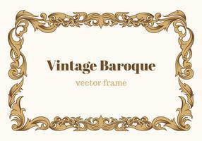 Freier Weinlese-barocker vektorrahmen