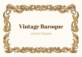 Cadre vectoriel baroque vintage gratuit