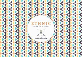 Free Geometric Ethnic Vector Pattern