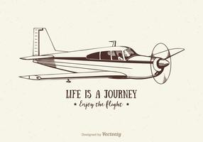 Free Vector Vintage Airplane Illustration